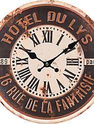 Traditionnel Rustique Antique Décontracté Rétro Bureau / Affaires Personnages Vacances Niches Inspiré Famille Religieux Horloge murale,