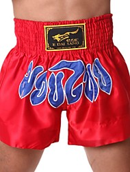 Short unisexe boxe confortable rouge noir