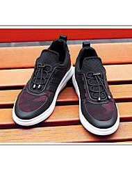 Herren-Sneakers Komfort Stoff lässig rot schwarz