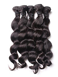 200g/Lot 8-26inch Malaysia Virgin Loose Wave Hair Natural Black Human Hair Weave Hair Bundles Sale.