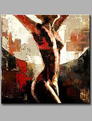 Peint à la main Nu Carré,Moderne Un Panneau Toile Peinture à l'huile Hang-peint For Décoration d'intérieur