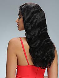 Onda do corpo glueless cheio perucas do cabelo humano do laço com cabelo humano virgem brasileiro do cabelo do bebê 8-26inch parte