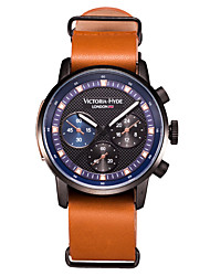 Men Sport Watch Fashion Watch Wrist watch Japanese Japanese Quartz Water Resistant / Water Proof Genuine Leather Band Cool Brown Brown