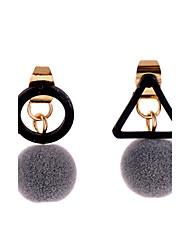 Lureme Women's Retro Triangle with Little Pom Pom Earrings for Women Girls