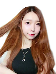 Japan and South Korea new brown long section in the sub-Liuhai natural wave high temperature wire wig