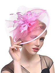 Women's Retro Feather / Tulle / Yarn Headpiece-Wedding / Special Occasion Flower Fascinators Bride Headbands 1 Piece Hair Accessories (More Colors)
