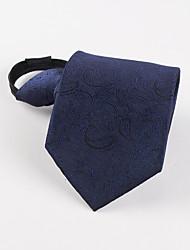 Cravate d'homme d'affaire paresseuse en bleu foncé coréen