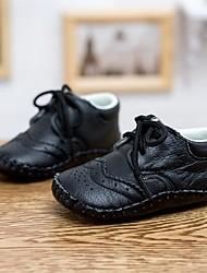 Girls' Flats Spring Fall Comfort Leather Casual Flat Heel