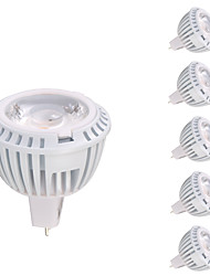 gmy® gu5.3 (mr16) projecteur led mr16 1 cob 8w 520lm 3000k blanc chaud cc / ac 12v ce / rohs 6 pcs