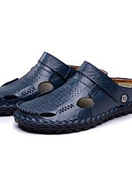 Masculino-Sandálias-Solados com LuzesPreto Marron Azul-Outras Peles de Animais-Casual