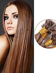 U / Nail Tip Hair Extensions Brazilian Straight Hair 100% Human Hair Extensions 100g Pre-bonded Straight Virgin Hair Color#10