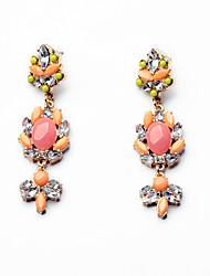 Boucles d'oreille goujon Cristal Personnalisé euroaméricains Forme Géométrique Rose Bonbon Bijoux Pour 1 paire
