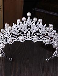 Jóia de strass imitação pérola headpiece-casamento ocasião especial para exterior tiaras pino de cabelo 1 peça
