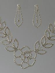 Жен. Ожерелья-цепочки Овальной формы Геометрической формы Стразы Цветочный принт Бижутерия НазначениеСвадьба Для вечеринок Особые случаи
