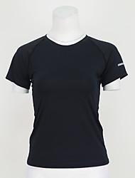 Damen Laufshirt Kurzarm Rasche Trocknung Atmungsaktiv T-shirt Oberteile für Yoga Übung & Fitness Laufen Polyester Elastan Eng S M L XL