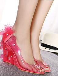 Femme-Décontracté Soirée & Evénement--Talon Compensé-club de Chaussures-Chaussures à Talons-Silicone
