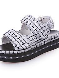 Women's Sandals Spring Comfort Fabric Casual Low Heel LED