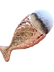 1pc Foundationbørste Syntetisk hår Bærbar Plast Ansikt