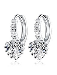 Hoop Earrings AAA Cubic ZirconiaBasic Unique Design Dangling Style Rhinestone Natural Geometric Square Friendship Turkish Cute Style