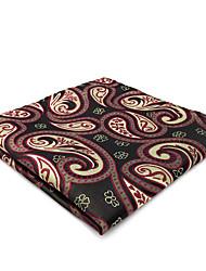 CH30 Business Men's Pocket Square Handkerchiefs Gray Khaki Multicolor Paisley 100% Silk Classic Unique Handmade Jacquard Woven