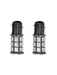 2Pcs 1157 27*5050SMD LED Car Light Bulb Green Light DC12V