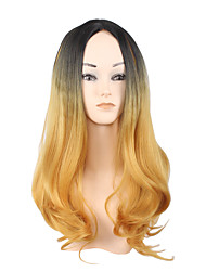 Golden Gradient Europe and the United States Foreign Trade Wig of Scalp Free Volume Big Waves 18inch