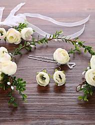 Сплав металлов Заставка-Свадьба Особые случаи Цветы Придерживайтесь волос