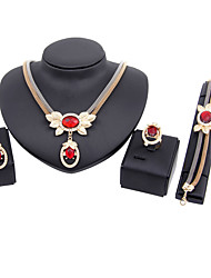 Schmuckset Braut-Schmuck-Sets Modisch Vintage bezaubernd Euramerican Schmuck mit Aussage Klassisch Strass Kronenform Gold1 Halskette 1