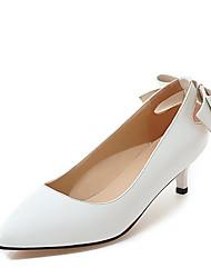 Women's Heels Spring Summer Formal Shoes Patent Leather Wedding Party & Evening Dress Kitten Heel Bowknot