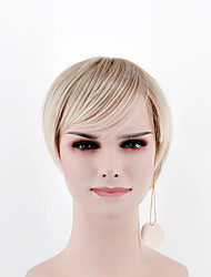 Japan and South Korea fashion lady short paragraph wig light golden side points bangs natural straight hair high temperature wire wig