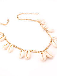 Women's Choker Necklaces Jewelry Drop Shell Alloy Dangling Style Pendant Euramerican Fashion Personalized Silver Gold Jewelry ForDaily