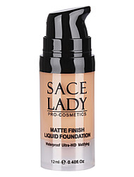 Matte Finish Liquid Foundation Cream Medium Coverage Long Lasting Waterproof Natural