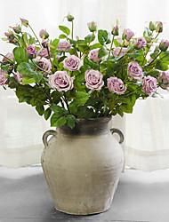 1 Филиал Шелк Розы Букеты на стол Искусственные Цветы
