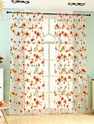 Curtain European Neoclassical  Flower Living Room Polyester Material Sheer Curtains Shades Home Decoration For Window