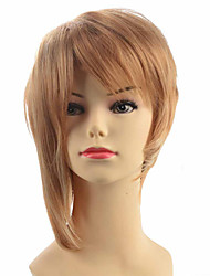 Capless short straight women blonde wig wacky wig party hairstyle pour femme