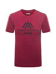 Homme Tee-shirt Pêche Respirable Eté Rouge de Rose
