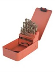 The Steel Shield 19 Piece Of Flat Handle Titanium Hss Drill Suit S133012/1