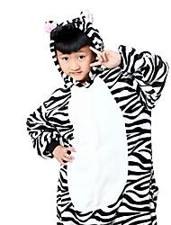 Kigurumi Pyjamas Zebra Gymnastikanzug/Einteiler Fest/Feiertage Tiernachtwäsche Halloween Schwarz-Weiss Tiermuster Druck Cosplay Kostüme