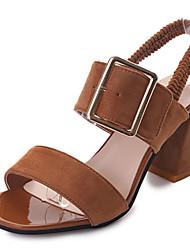 Damen-Sandalen-Lässig-Kaschmir-Keilabsatz-Komfort-