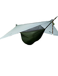 1 personne Hamac Abri et Toile Double Tente pliable Une pièce Tente de camping Aluminium Nylon Pliable Portable-Camping Extérieur