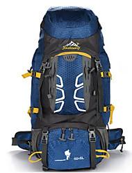 55 L Rucksack Klettern Freizeit Sport Camping & Wandern Wasserdicht tragbar Atmungsaktiv Multifunktions
