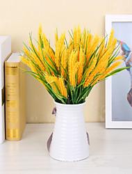 4.0 Ramo Isopor Plástico Couro Ecológico Fibra Toque real Plantas Outras Flor de Mesa Flores artificiais