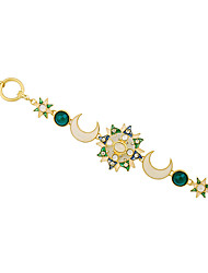 Women's Chain Bracelet Fashion Alloy Star Moon Green Jewelry For Halloween Christmas Gifts 1pc