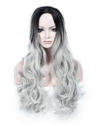 Heat Resistant Synthetic Wigs Likes Picture Color Long Body Wave Wig Hair