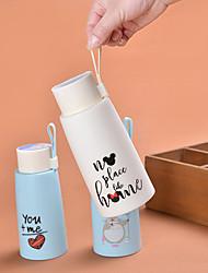 Мультфильм мило портативный сплошной цвет прекрасный стеклянной бутылке (случайные цвета)