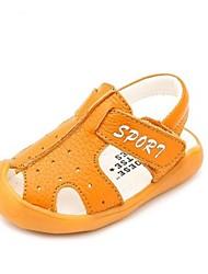 Boys' Sandals Summer First Walkers Cowhide Casual Flat Heel