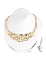 Set di gioielli Collana Orecchini Set Di tendenza Euramerican Strass Lega Lettere dell'alfabeto 1 collana 1 paio di orecchini Per