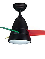 Ventilateur de plafond ,  Contemporain Peintures Fonctionnalité for LED Métal Chambre à coucher chambre d'enfants