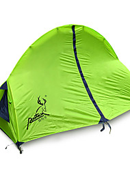 1 person Tent Double Fold Tent One Room Camping Tent Fiberglass Oxford Waterproof Portable-Hiking Camping-Green