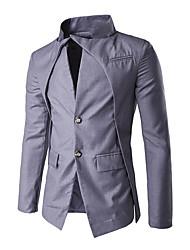 Costume / Tailleur Homme,Couleur Pleine Travail simple Printemps Manches longues Mao Court Others